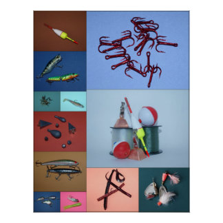 Fishing Collage Poster