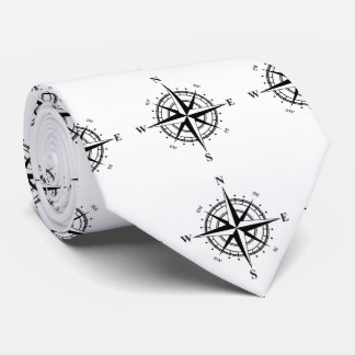 Fishing Compass Neck Tie