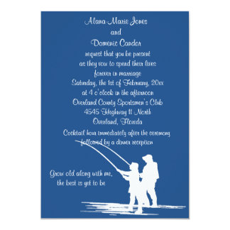 Fishing Couple Wedding Invitations : CUSTOMIZE