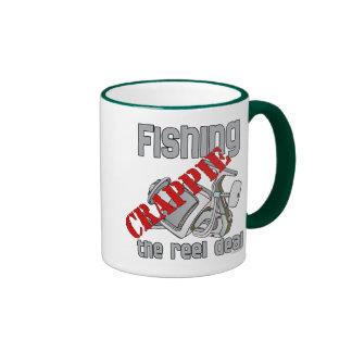 Fishing Crappie The Reel Deal Serious Fishing Ringer Mug
