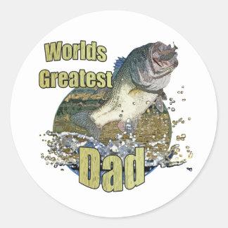 Fishing Dad Round Sticker