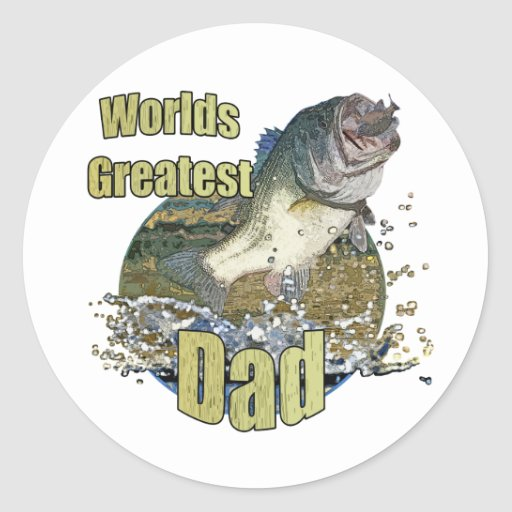 Fishing Dad Stickers