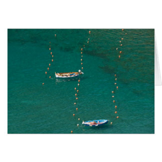 Fishing dories note card