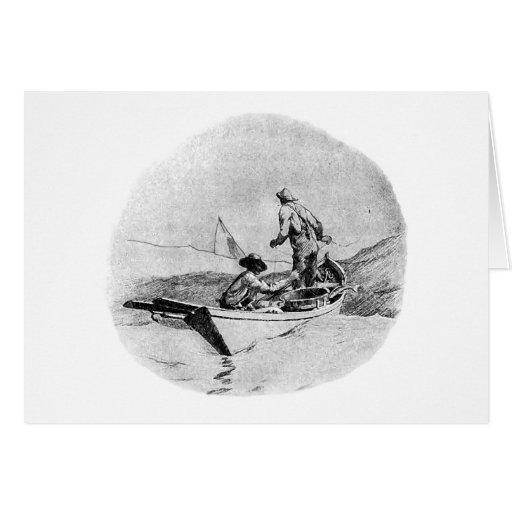 Fishing - Dory Fishermen Greeting Card