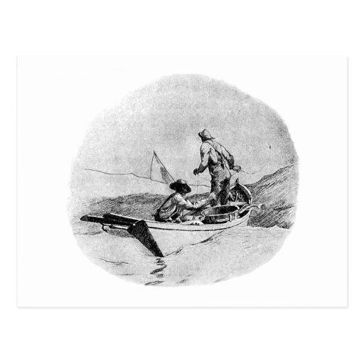 Fishing - Dory Fishermen Post Card