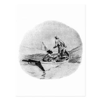 Fishing - Dory Fishermen Postcard