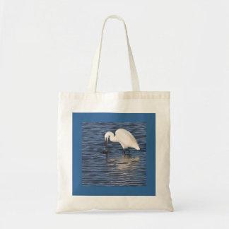 Fishing Egret Budget Tote Bag