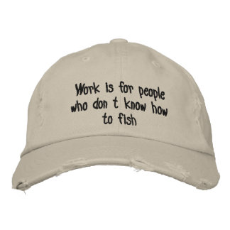 Fishing Embroidered Hats