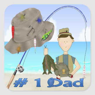 Fishing Father's Day Sticker