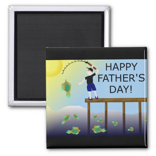 fishing fish father's day father dad magnet