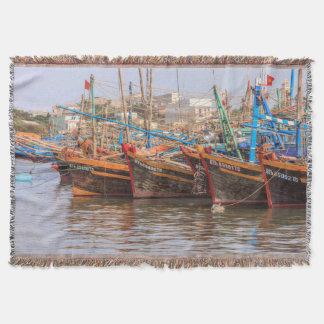 Fishing fleet throw blanket