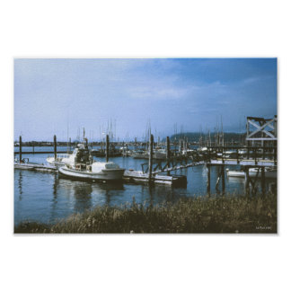 Fishing Fleets LA Push Washington Poster
