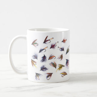 fishing flies basic white mug