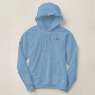 Fishing Flies Embroidered Hoodie