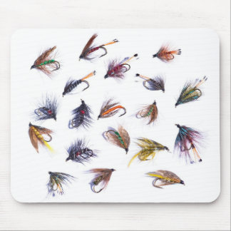 fishing flies mouse mat