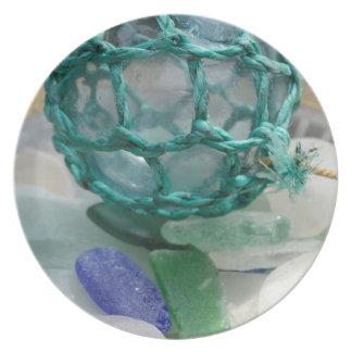 Fishing float on glass, Alaska Plate
