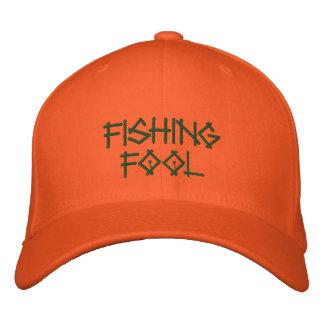 Fishing Fool Embroidered Baseball Caps