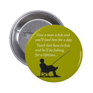 Fishing for a Lifetime 6 Cm Round Badge