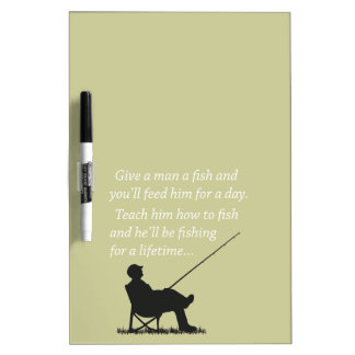 Fishing for a Lifetime Dry Erase White Board