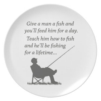 Fishing for a Lifetime Plate