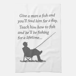 Fishing for a Lifetime Tea Towel