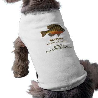 Fishing for Bluegill Sleeveless Dog Shirt