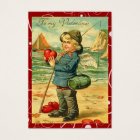 Fishing for Love Valentine Love Notes Business Card