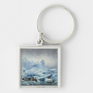 Fishing for Walrus in the Arctic Ocean, 1841 Key Ring