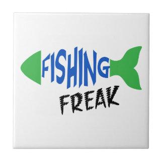Fishing Freak Small Square Tile
