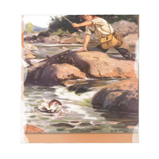 Fishing from the rocks notepad
