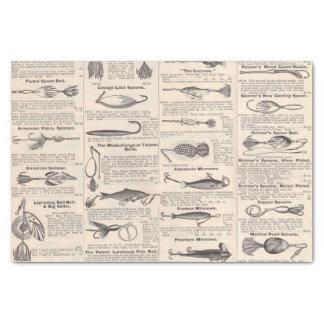 Fishing Gear Newsprint Vintage Advertising Tissue Paper