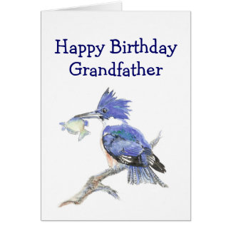 Fishing Grandfather  Birthday Humor The Kingfisher Card