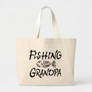 Fishing Grandpa Tote Bags