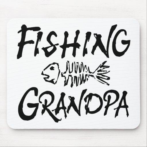 Fishing Grandpa Mouse Pads