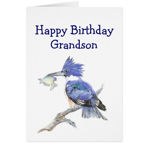 Fishing Grandson  Birthday Humor The Kingfisher Cards