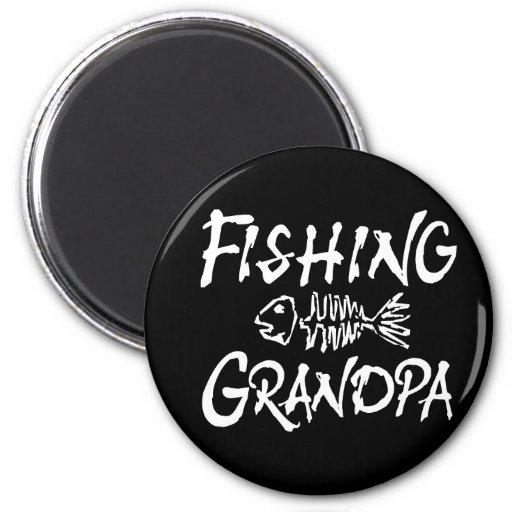 Fishing Granpa Magnet