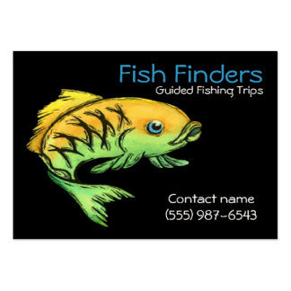 Fishing Guide and Tour Service Pack Of Chubby Business Cards