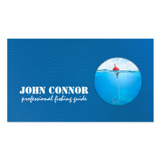 Fishing Guide Service Blue Business Card