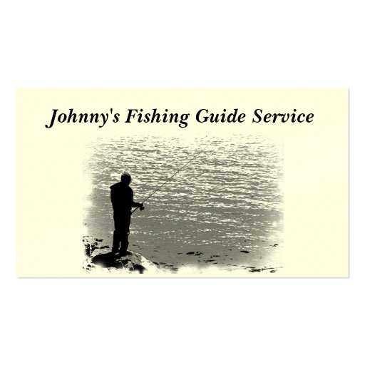 Fishing Guide Service Business Card Template