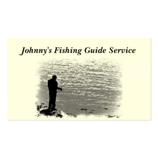 Fishing Guide Service Pack Of Standard Business Cards