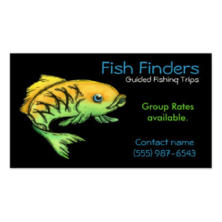 Fishing Guide, Trips or  Tours Service Pack Of Standard Business Cards
