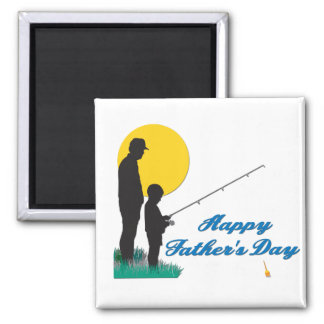 Fishing Happy Father's Day Refrigerator Magnets