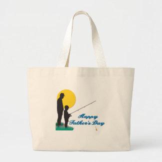 Fishing Happy Father's Day Jumbo Tote Bag