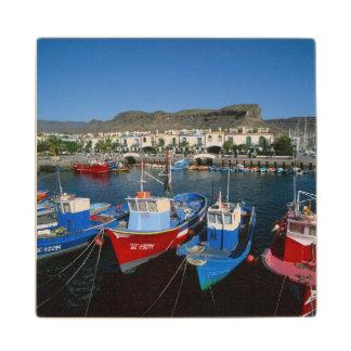 Fishing Harbor, Puerto de Mogan, Gran Canaria, Wood Coaster