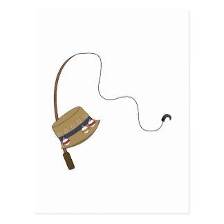 Fishing Hat & Rod Postcard