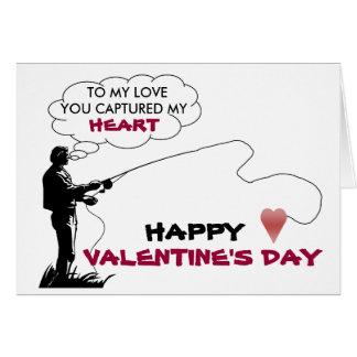 fishing, heart, TO MY LOVE,card
