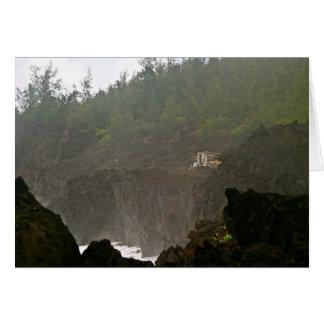 Fishing House at Wai'anapanapa State Park, Maui Greeting Card