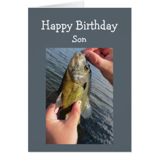Fishing Humor Son Birthday to Customize Greeting Card