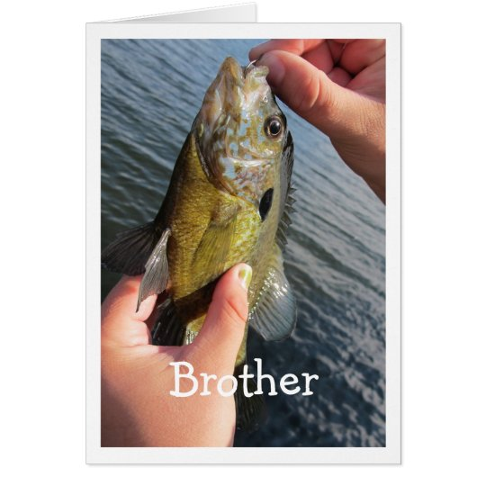 Fishing Humour for Brother Birthday Customise Card