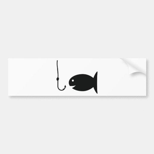 fishing icon car bumper sticker